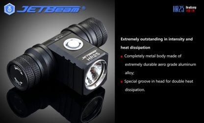 JETBeam HR25 USB Rechargeable Headlamp - 1180 Lumens -12446