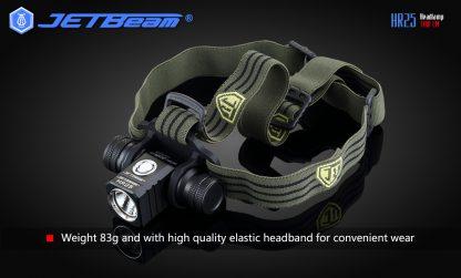 JETBeam HR25 USB Rechargeable Headlamp - 1180 Lumens -12445