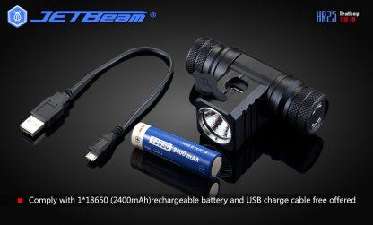 JETBeam HR25 USB Rechargeable Headlamp - 1180 Lumens -12451