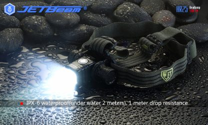 JETBeam HR25 USB Rechargeable Headlamp - 1180 Lumens -12449