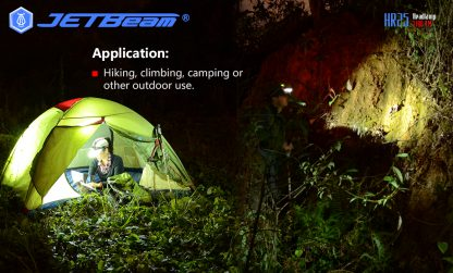 JETBeam HR25 USB Rechargeable Headlamp - 1180 Lumens -12444