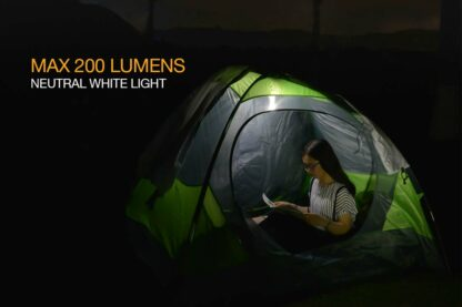 Fenix CL09 Compact Rechargeable Lantern (200 Lumens) - Olive or Black-12339