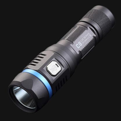 JETBeam C8 Pro USB rechargeable torch (1200 Lumens)-12487