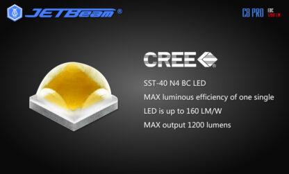 JETBeam C8 Pro USB rechargeable torch (1200 Lumens)-12509