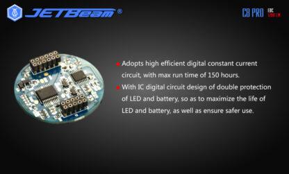 JETBeam C8 Pro USB rechargeable torch (1200 Lumens)-12499