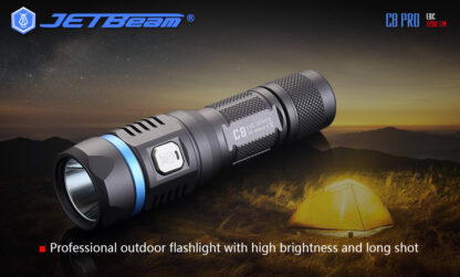 JETBeam C8 Pro USB rechargeable torch (1200 Lumens)-12500