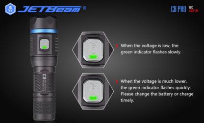 JETBeam C8 Pro USB rechargeable torch (1200 Lumens)-12497