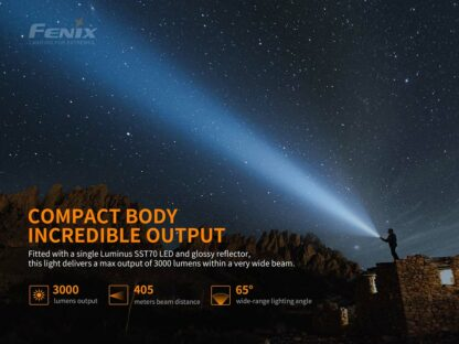 Fenix PD40R V2.0 Rechargeable Flashlight (3000 Lumens)-17472