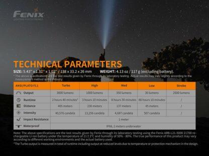 Fenix PD40R V2.0 Rechargeable Flashlight (3000 Lumens)-17467