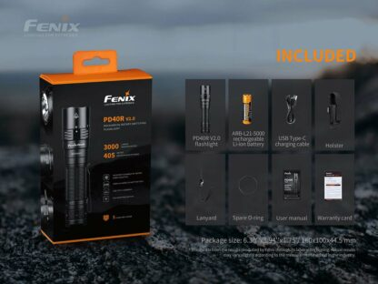Fenix PD40R V2.0 Rechargeable Flashlight (3000 Lumens)-17464