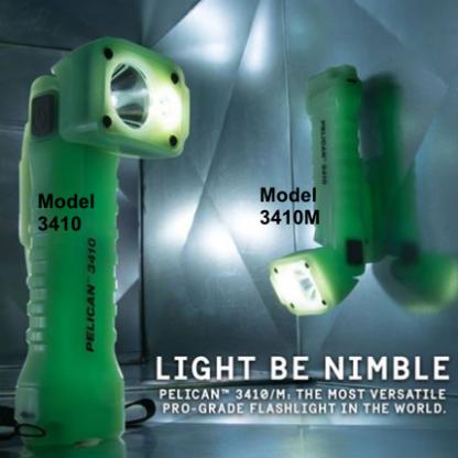 Pelican 3410M Right Angle Photoluminescent Flashlight (Magnet version) - 653 Lumens-18819