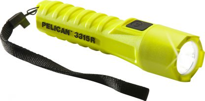 Pelican 3315R Rechargeable Torch (132 Lumens) Yellow Certified Class 1 Div 1 / IECEx ia Approved-0