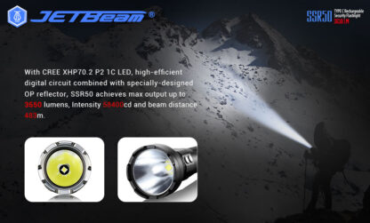 JETBeam New SSR50 Security Torch (3650 Lumens)-13132