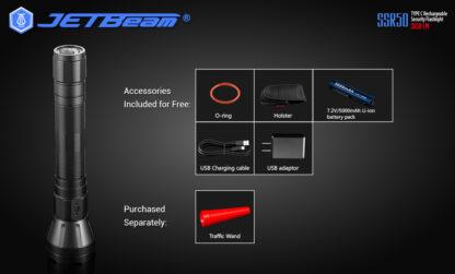 JETBeam New SSR50 Security Torch (3650 Lumens)-13135