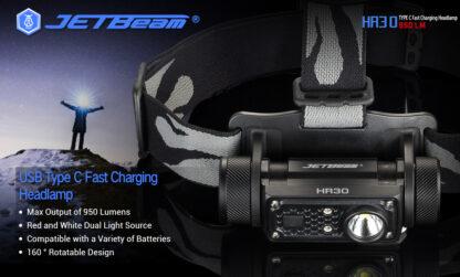 JETBeam HR30 Headlamp (950 lumens)-13404