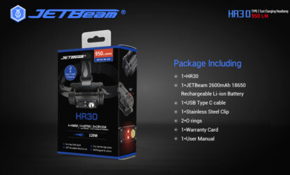 JETBeam HR30 Headlamp (950 lumens)-13418