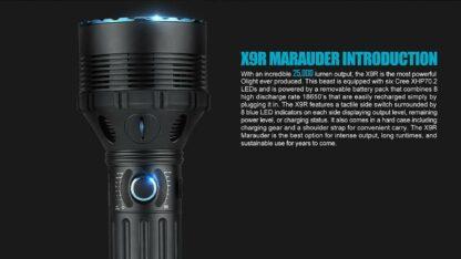 Olight X9R Marauder 25000 lumen rechargeable LED searchlight-13437