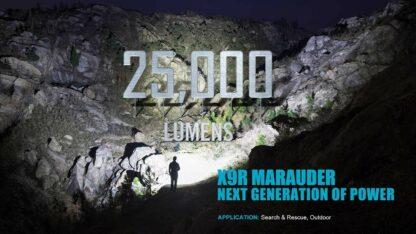 Olight X9R Marauder 25000 lumen rechargeable LED searchlight-13428