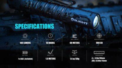 Olight i3T EOS AAA Pocket Torch -180 Lumens-13533