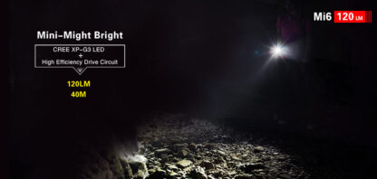 Klarus Mi6 1x AAA Keychain Flashlight 120LM - Black-13676