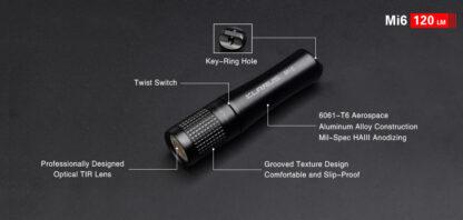 Klarus Mi6 1x AAA Keychain Flashlight 120LM - Black-13672
