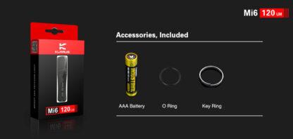 Klarus Mi6 1x AAA Keychain Flashlight 120LM - Black-13665