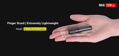 Klarus Mi6 1x AAA Keychain Flashlight 120LM - Black-13673