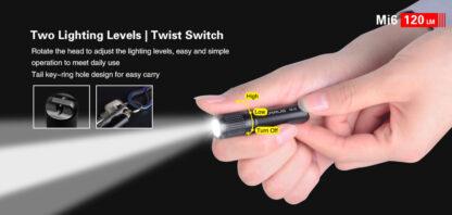 Klarus Mi6 1x AAA Keychain Flashlight 120LM - Black-13670