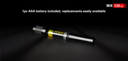 Klarus Mi6 1x AAA Keychain Flashlight 120LM - Black-13666