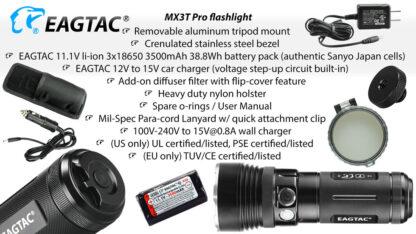 Eagletac MX3T Pro Rechargeable Flashlight 4850 Lumens-13699