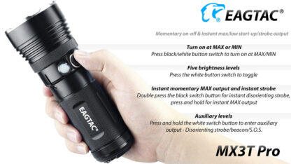Eagletac MX3T Pro Rechargeable Flashlight 4850 Lumens-13702