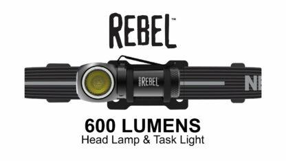 NEBO 'Rebel' Rechargeable Task Light/Headlamp - 600 Lumens-15983