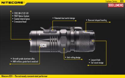 Nitecore EC11 Flashlight (900 Lumens)-14041