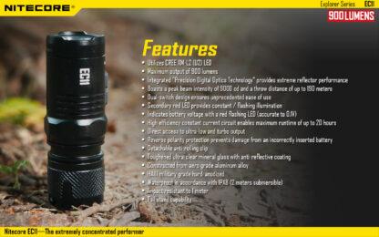 Nitecore EC11 Flashlight (900 Lumens)-14046