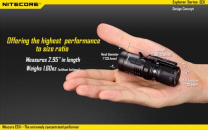 Nitecore EC11 Flashlight (900 Lumens)-14045