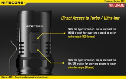 Nitecore EC11 Flashlight (900 Lumens)-14054