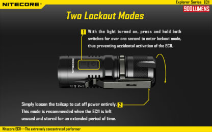 Nitecore EC11 Flashlight (900 Lumens)-14039