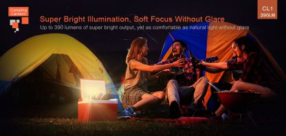 Klarus CL1 Rechargeable Camping Lantern (390 Lumens) and Bluetooth Speaker-14550