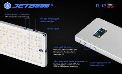 JETBeam FL12 Fill Light + Power Bank-14653