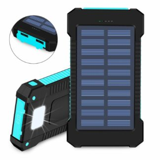 10,000mah Solar Power Bank/Phone Charger- Rubber Waterproof Case-0