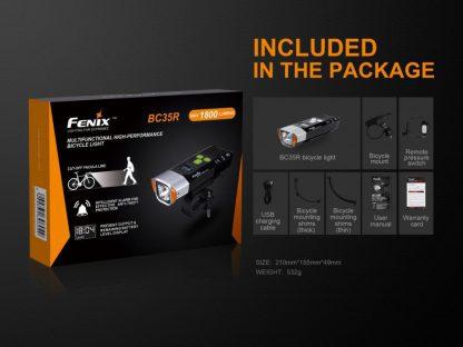 Fenix BC35R Rechargeable Bike Light (1800 Lumens)-14887