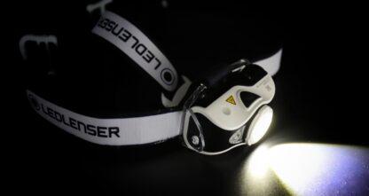 Led Lenser MH7 USB Rechargeable Headlamp - Black/White-16015