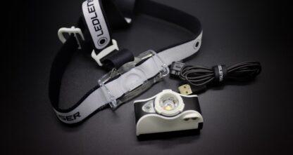 Led Lenser MH7 USB Rechargeable Headlamp - Black/White-16017
