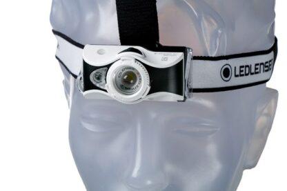 Led Lenser MH7 USB Rechargeable Headlamp - Black/White-16012