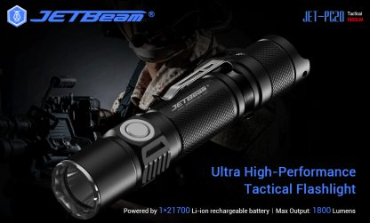JETBeam Jet-PC20 USB Type-C Rechargeable Flashlight – 1800 Lumens-15058