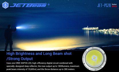 JETBeam Jet-PC20 USB Type-C Rechargeable Flashlight – 1800 Lumens-15047