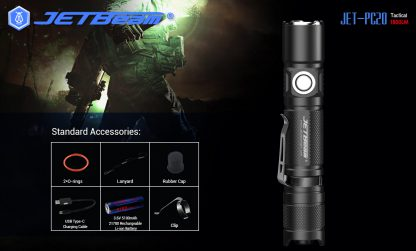 JETBeam Jet-PC20 USB Type-C Rechargeable Flashlight – 1800 Lumens-15054