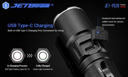 JETBeam Jet-PC20 USB Type-C Rechargeable Flashlight – 1800 Lumens-15043