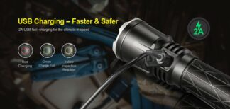 Klarus XT21X Compact 4000 lumen USB rechargeable tactical LED torch-14995