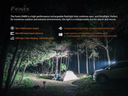 Fenix LR40R Rechargeable Searchlight (12000 lumens)-15226